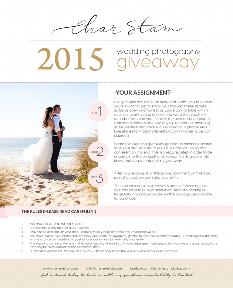 Information On How To Enter A Wedding Photography Giveaway