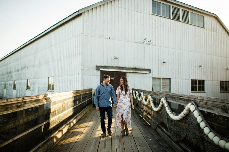 engagement photos at brittania shipyards
