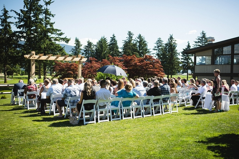 Wedding Ceremony at the Chilliwack Golf and Country Club