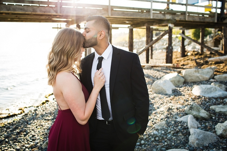 Formal engagement session at White Rock
